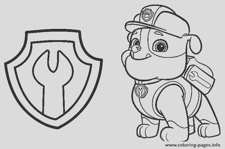 paw patrol rubble mechanic badge printable coloring pages book