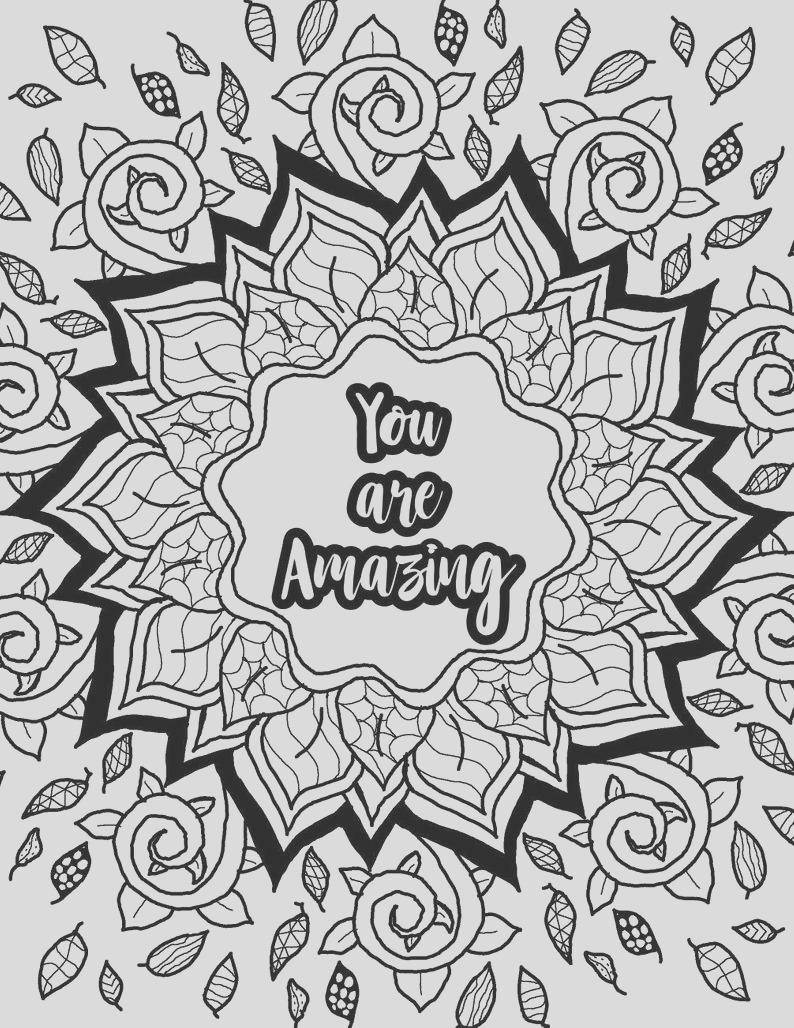 adult coloring page inspirational quote