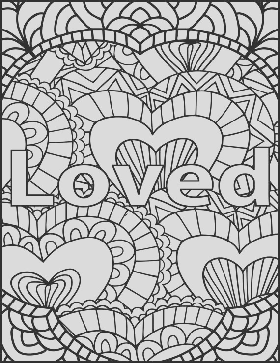 i am loved adult coloring page inspiring