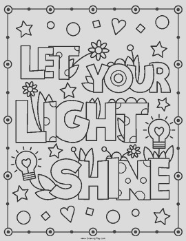 Inspirational Coloring Book Positive Affirmations and Motivational Quotes