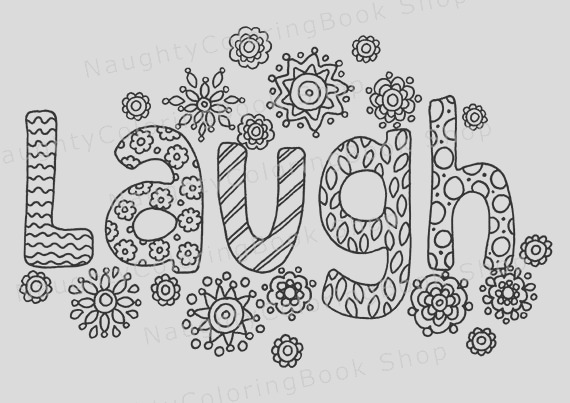laugh printable t coloring pageadult