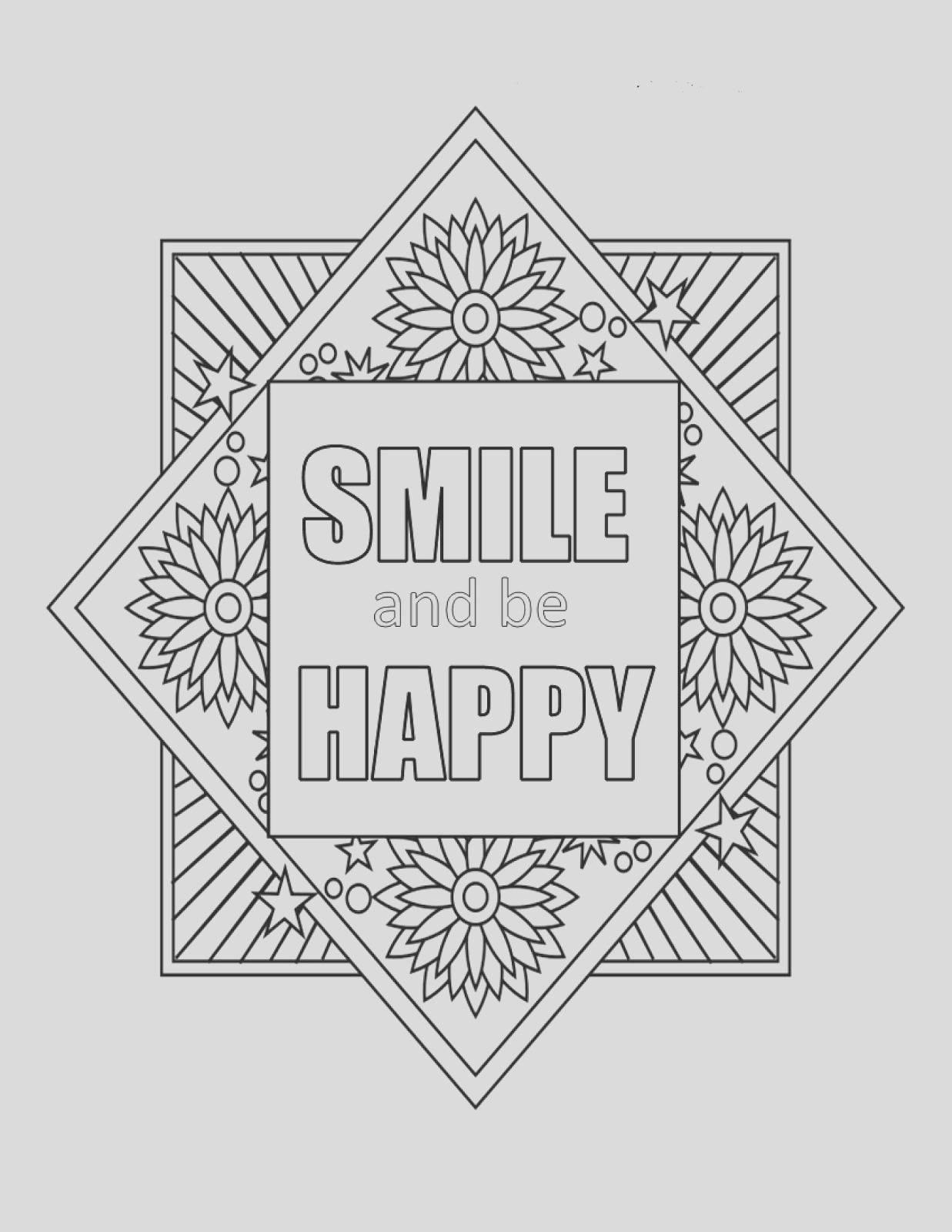 free inspirational quote coloring page