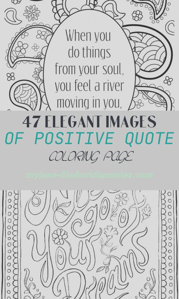 Positive Quote Coloring Page Unique Positive Quotes Coloring Pages to Keep the Good Vibes Flowing