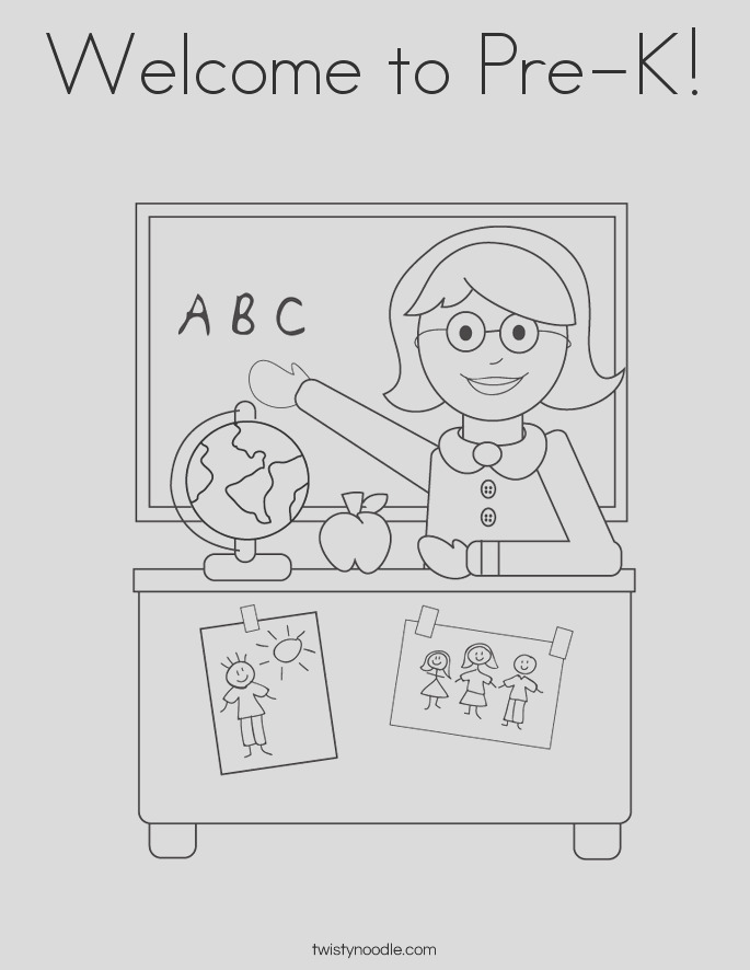 wel e to pre k 2 coloring page