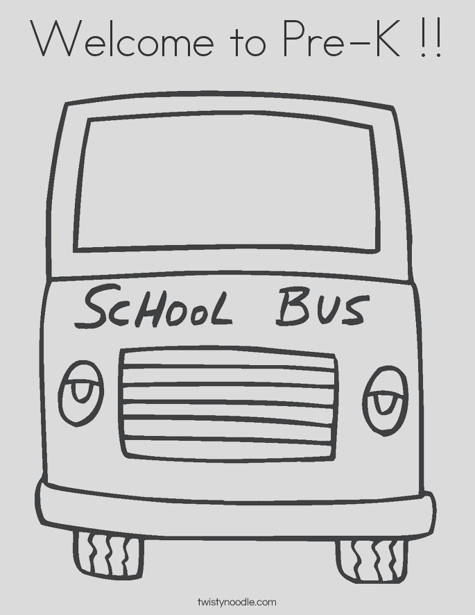 wel e to pre k 5 coloring page