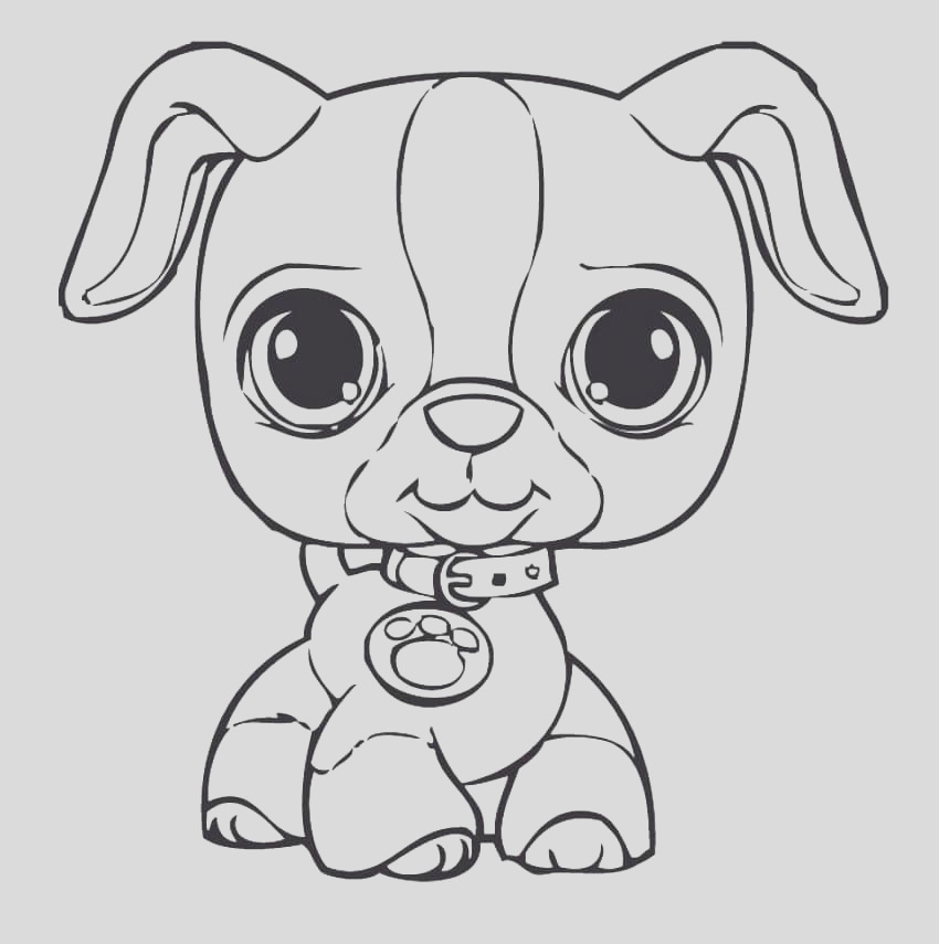 draw puppy coloring pages