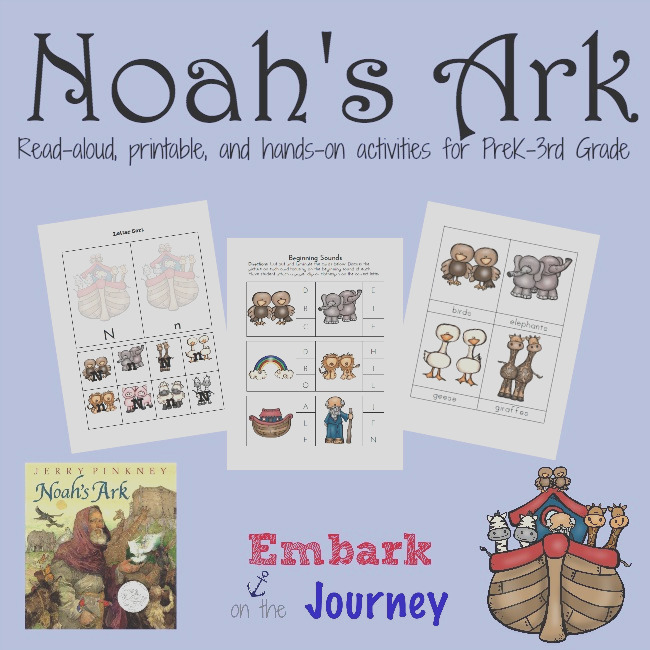 free noahs ark printable printable and activity pack