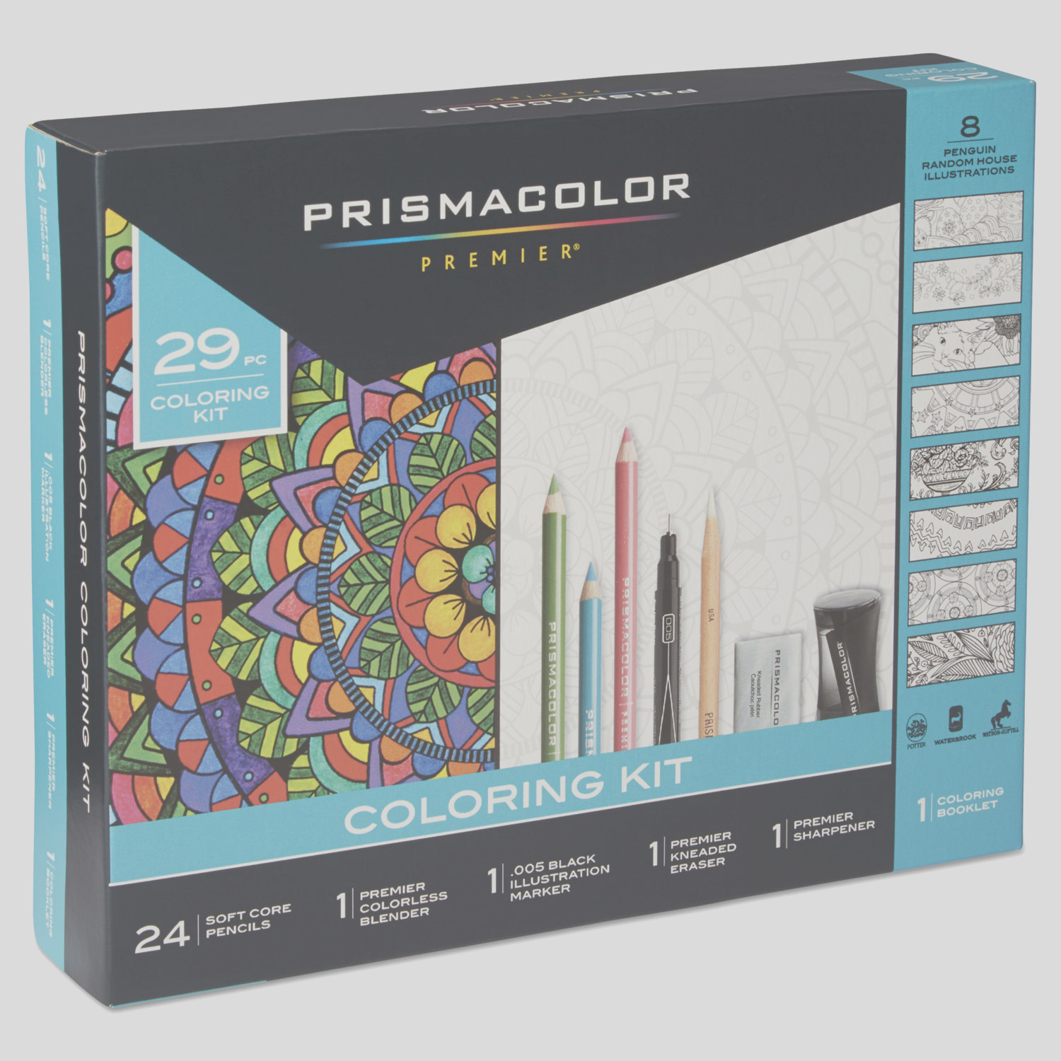 san plete toolkit with colored pencils and 8 page coloring book