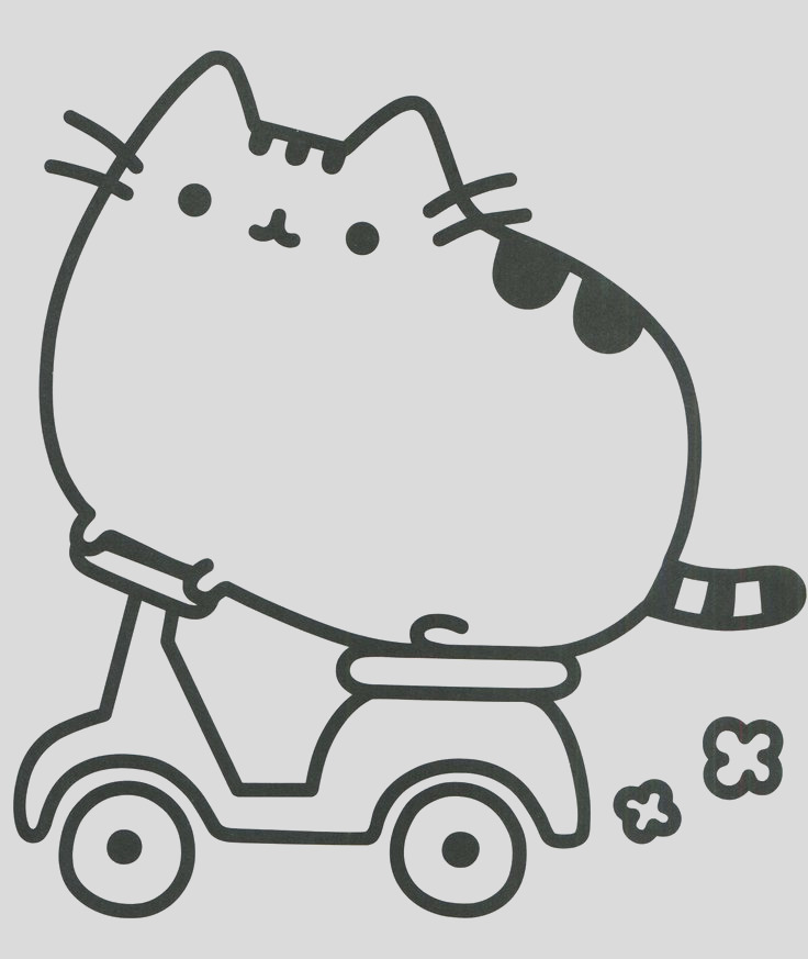 pusheen the cat coloring pages sketch templates