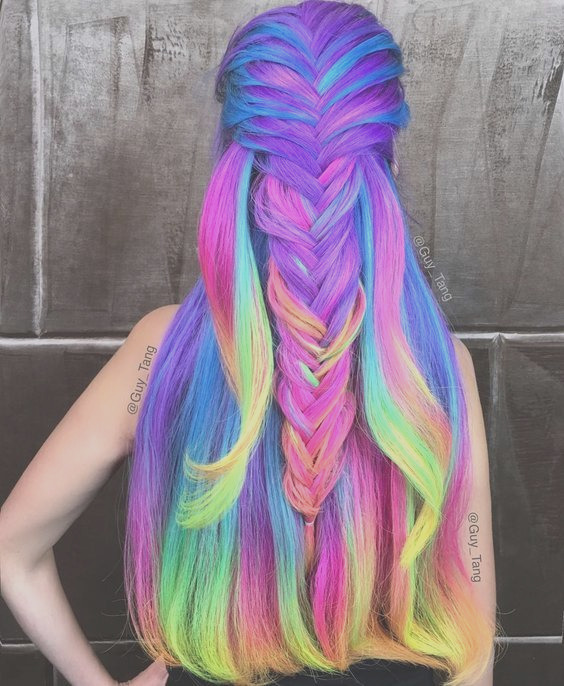 colored hair trends