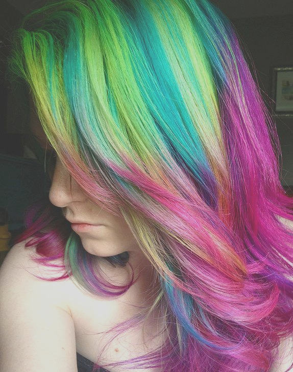 2014 hot ombre highlights trend 30 rainbow colored hairstyles chic women try