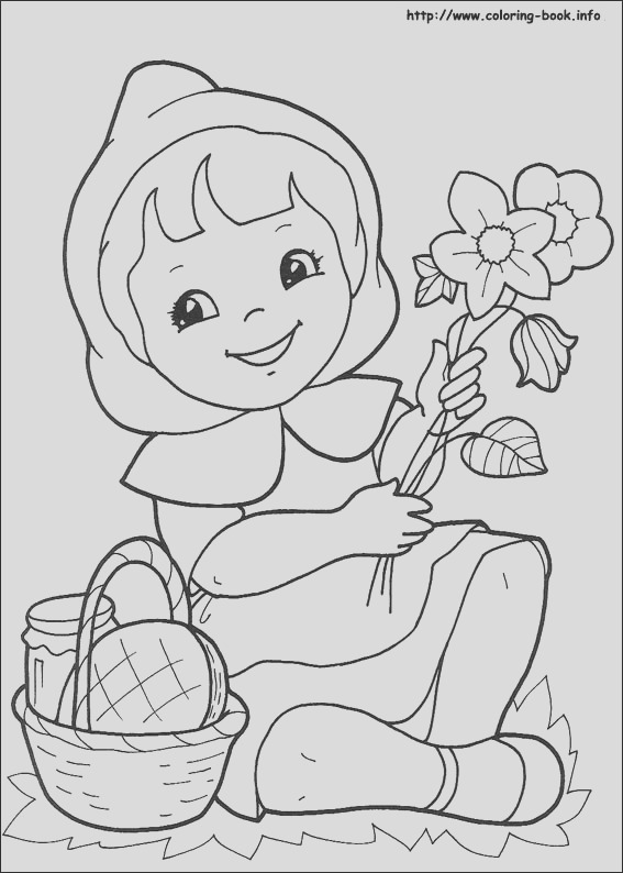 10 free printable little red riding hood coloring coloring forkids