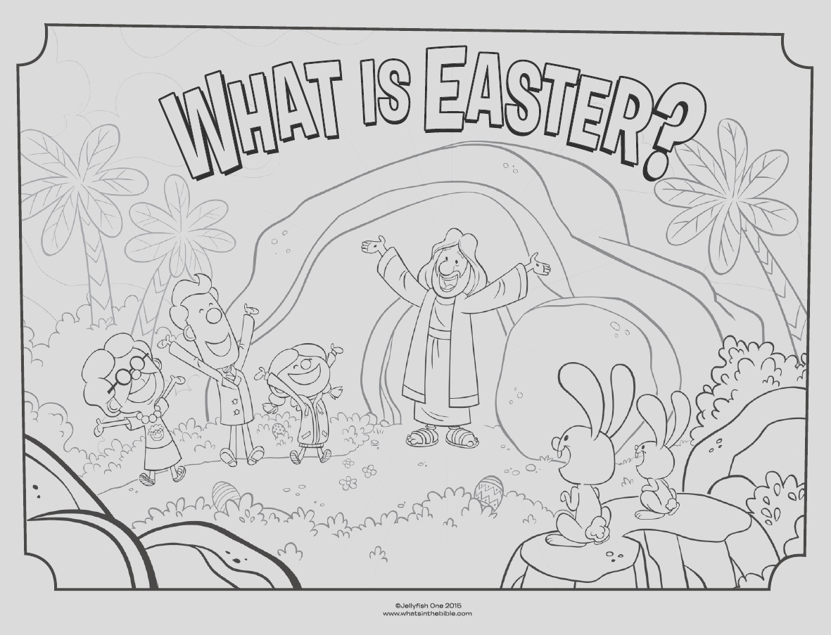 what is easter cover coloring page