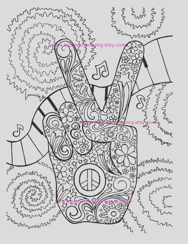 adult coloring page hippie retro peace