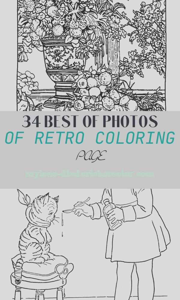 Retro Coloring Page Fresh Vintage Drawing Vintage Adult Coloring Pages