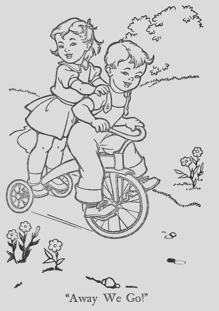vintage coloring book pages
