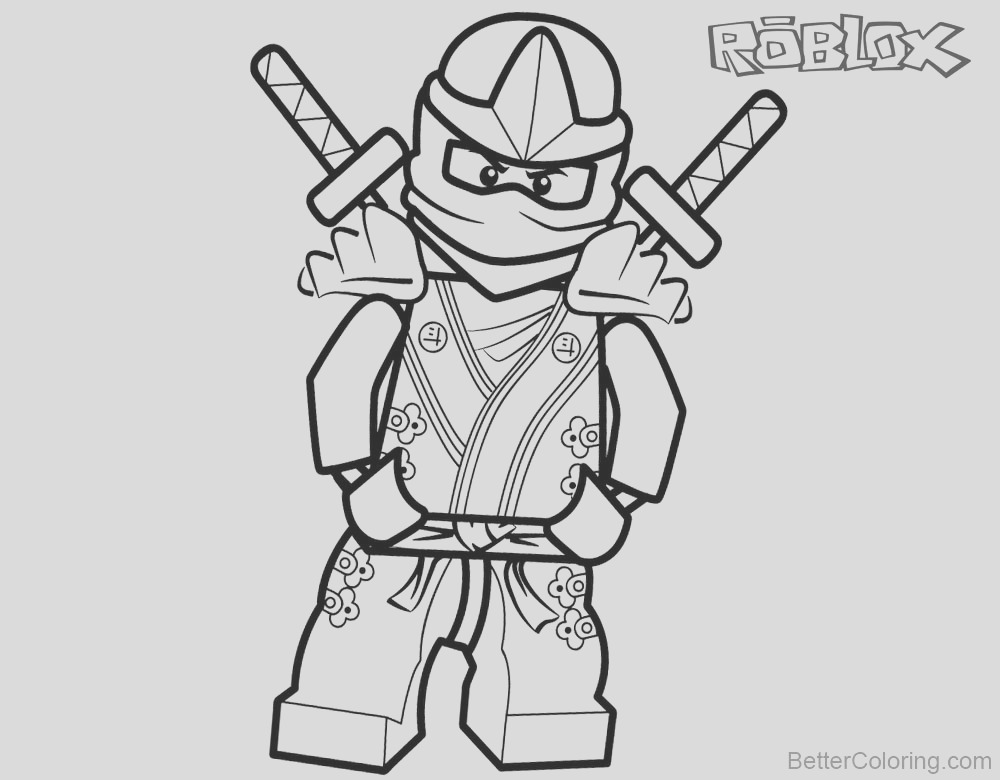 roblox characters coloring pages