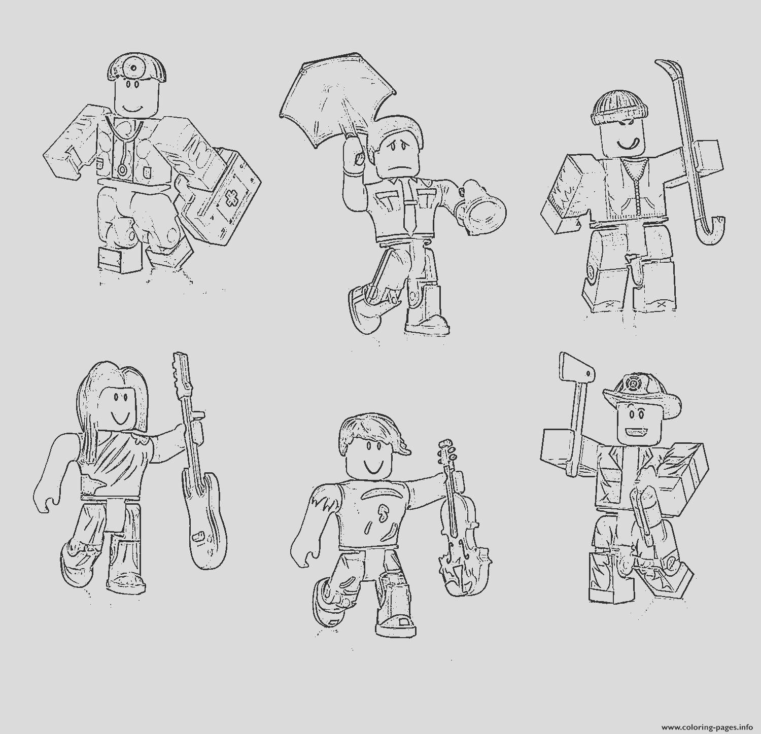 roblox characters printable coloring pages book