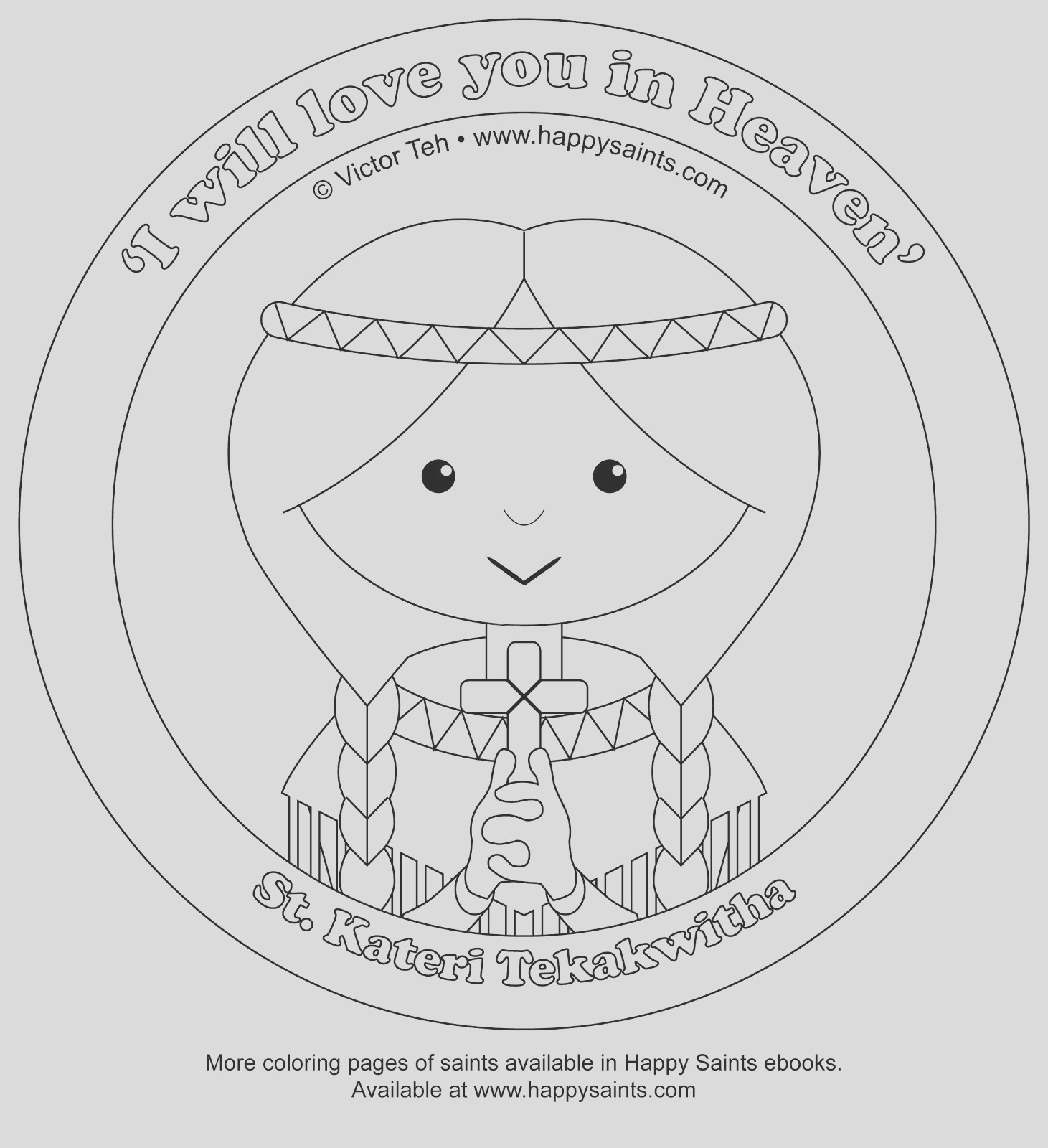 coloring pages of st pedro and st kateri