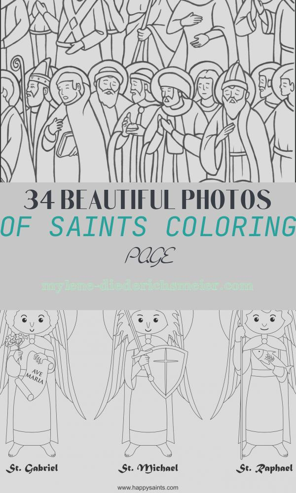 Saints Coloring Page Luxury All Saints Day Coloring Page