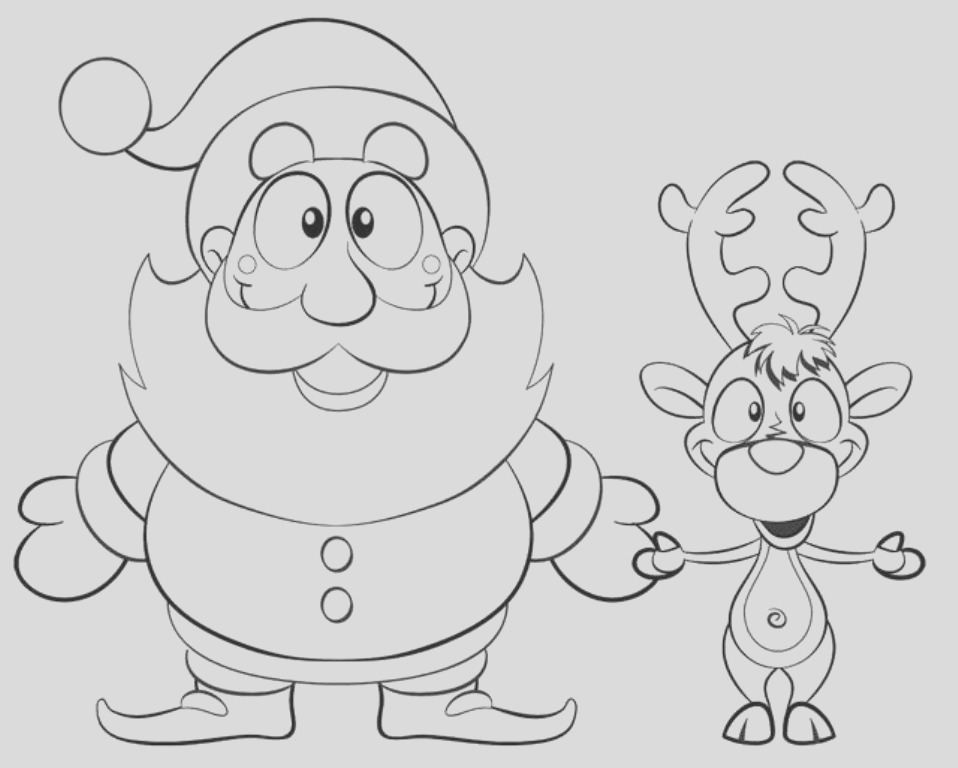 coloring pages of reindeer
