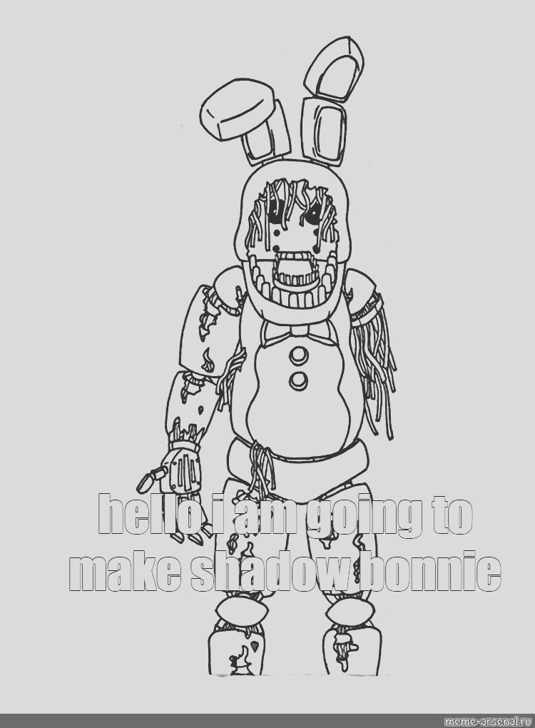 shadow bonnie pages sketch templates