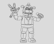 shadow freddy pages sketch templates