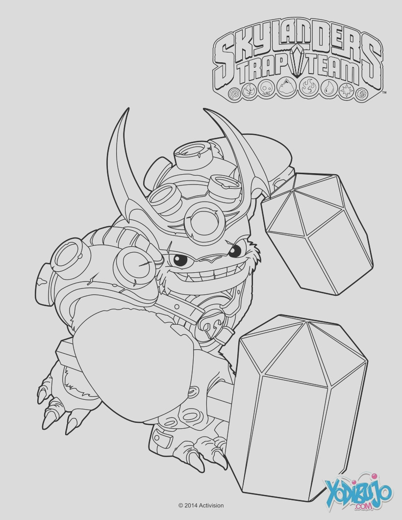 chop chop skylanders superchargers characters coloring pages sketch templates