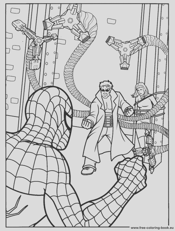 coloring pages spiderman 1