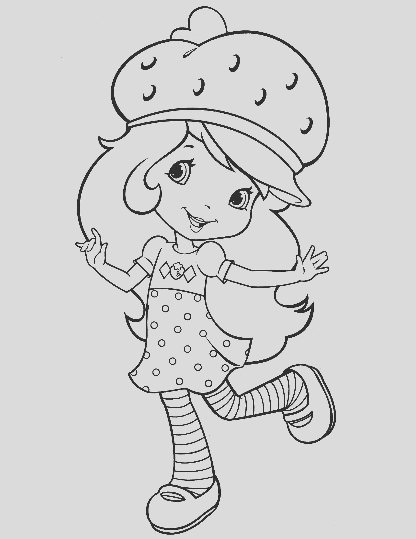 strawberry shortcake coloring pages for kids free printable activity 11