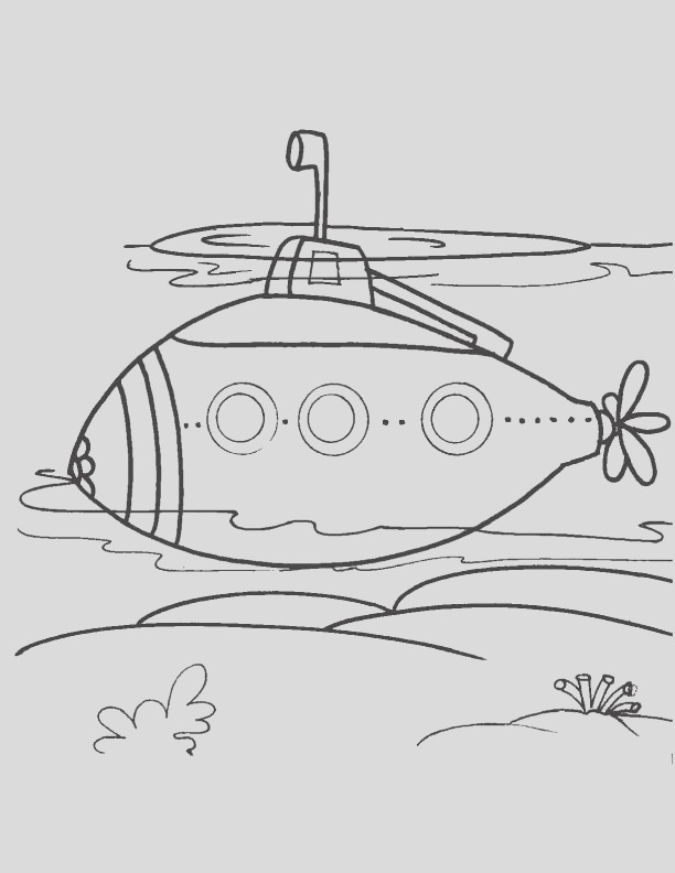 modern submarine coloring page 1d5579