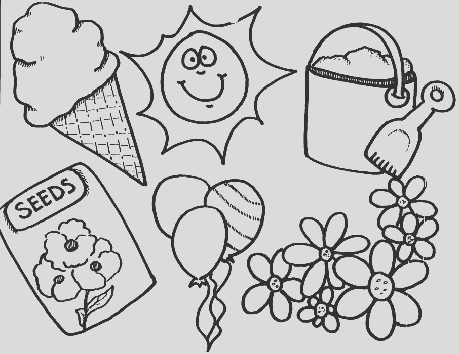 printable new spring and summer coloring pages for preschoolers 2014