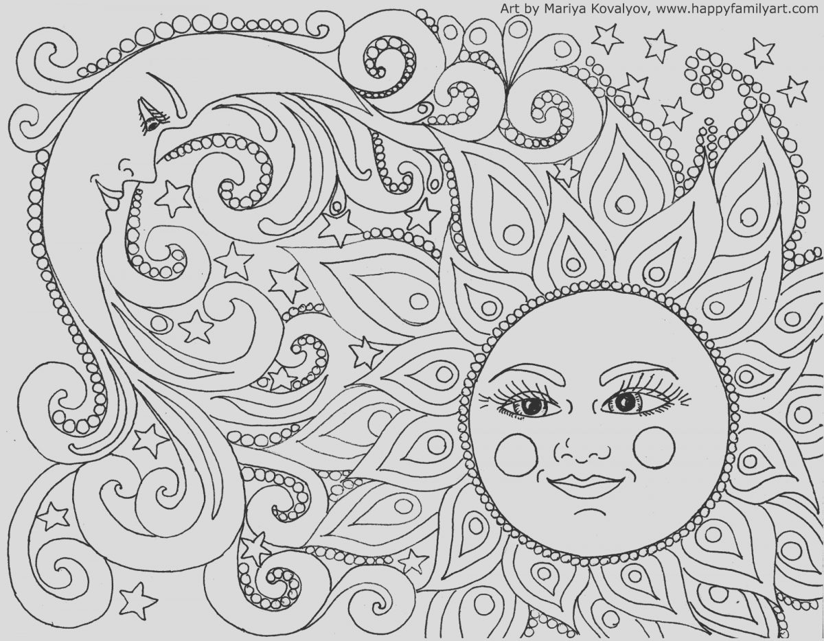 Sun and Moon Coloring Book New Happy Family Art original and Fun Coloring Pages