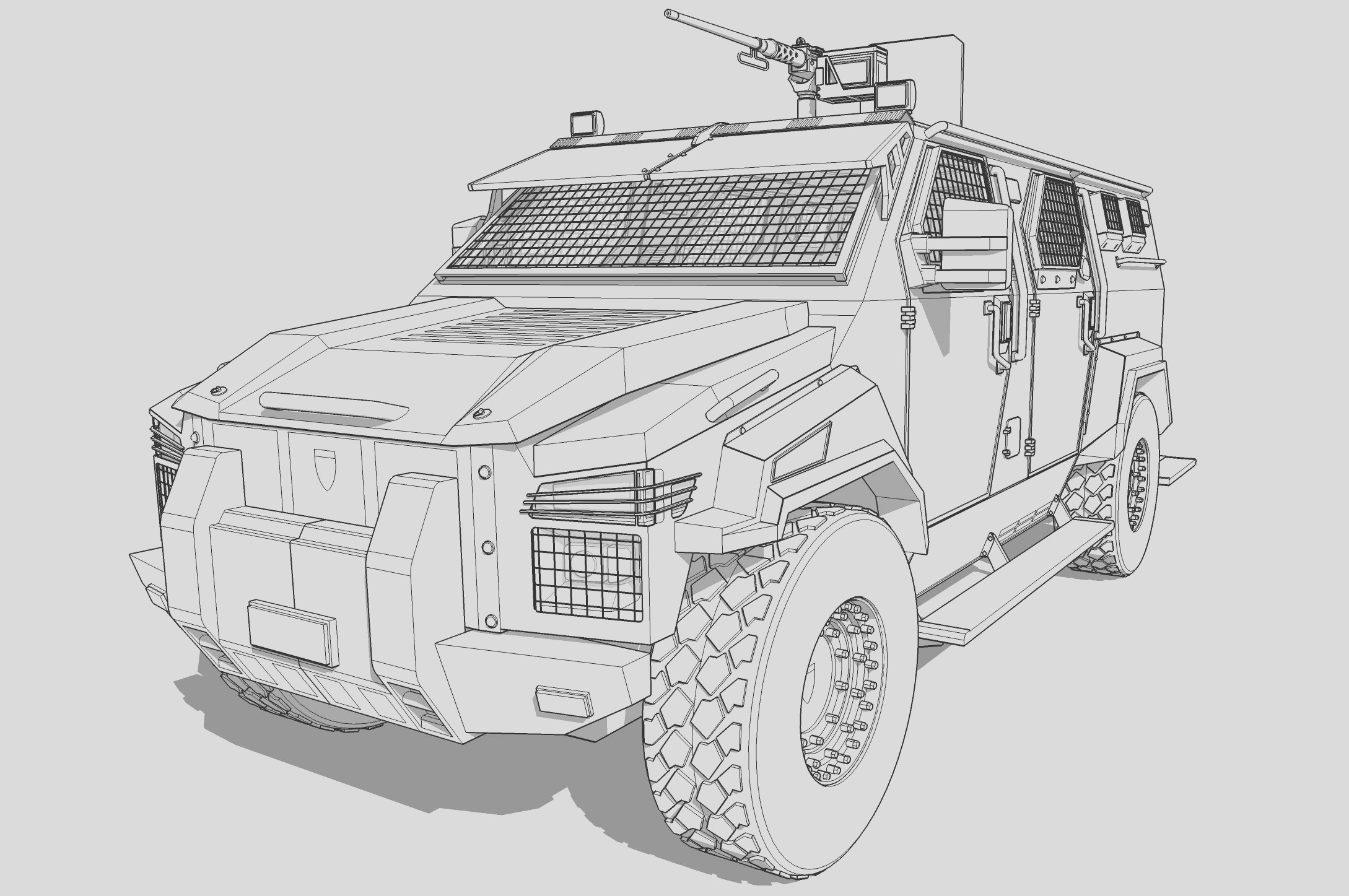 swat truck coloring pages