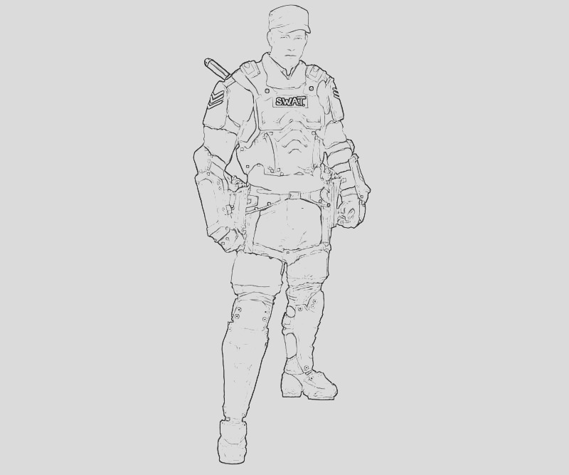 swat officer coloring pages sketch templates