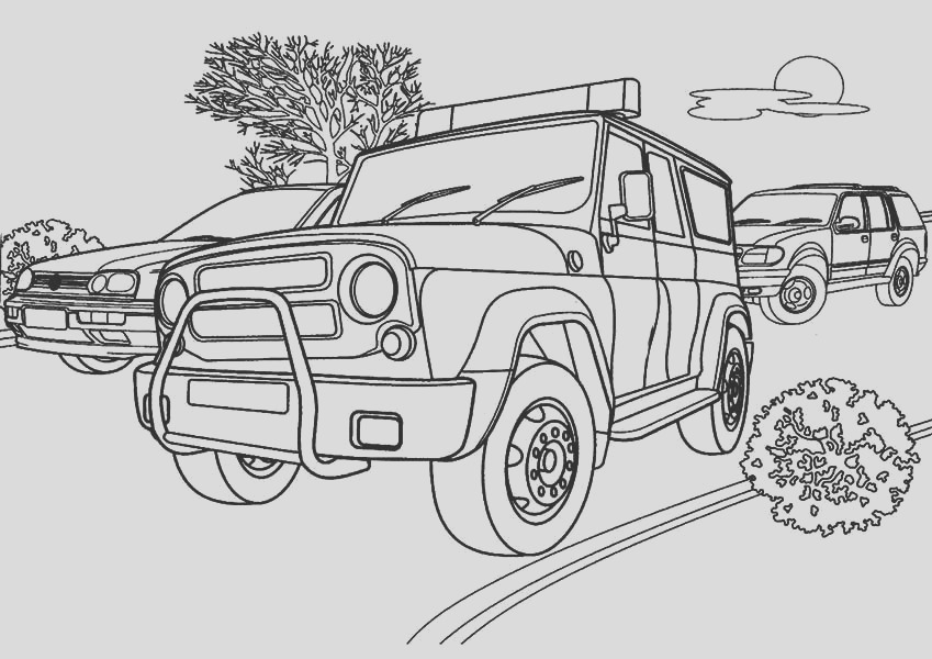 tactical team police car coloring page