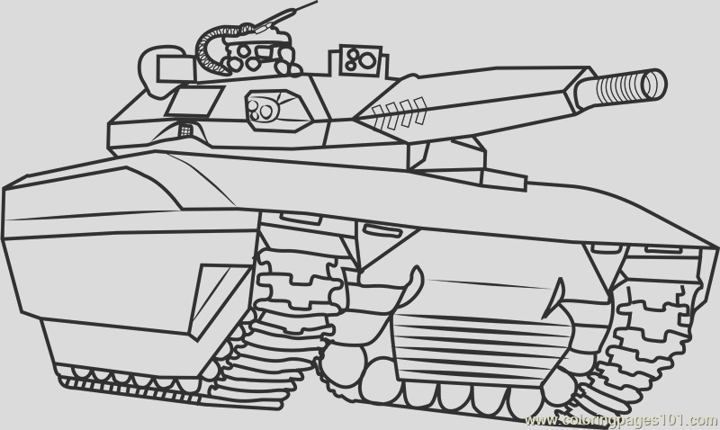 army tank coloring page