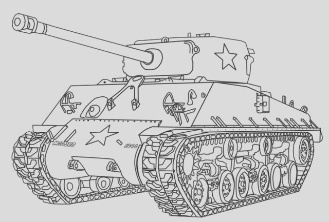 16 printable strong and cool tank coloring pages