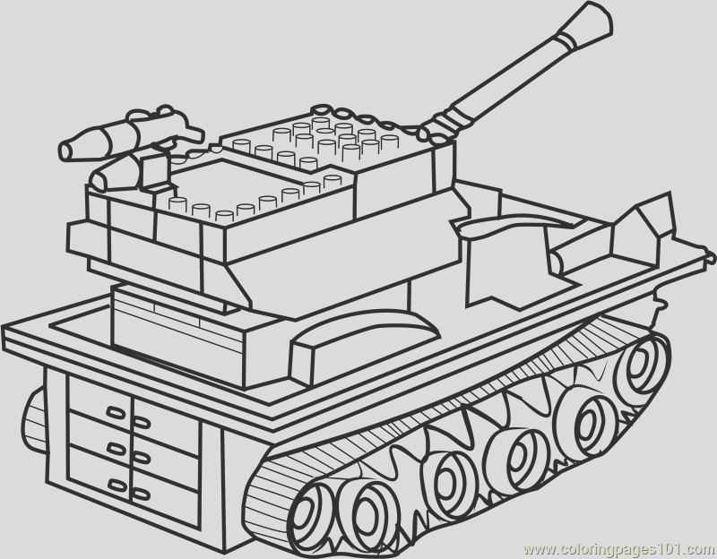 lego tank coloring page