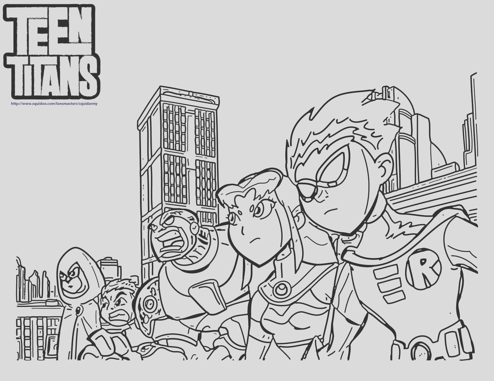 superb teen titans colouring pages