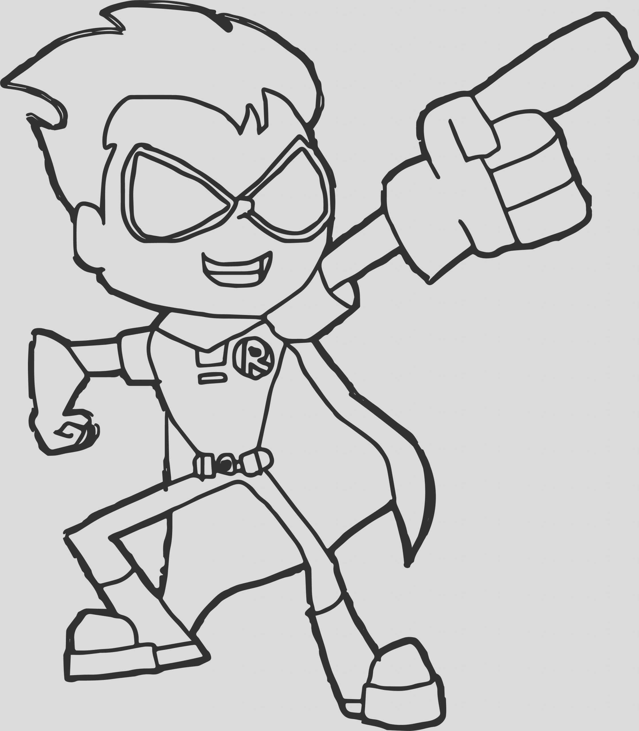 robin teen titans go robin coloring pages