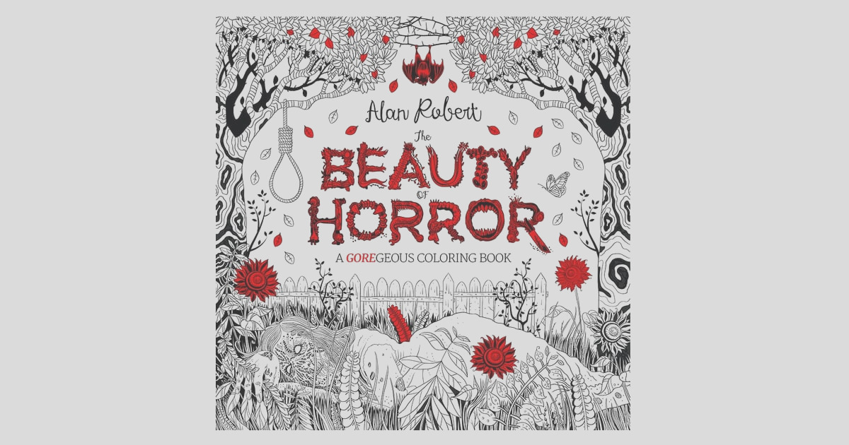 Beauty Horror GOREgeous Coloring Book 12