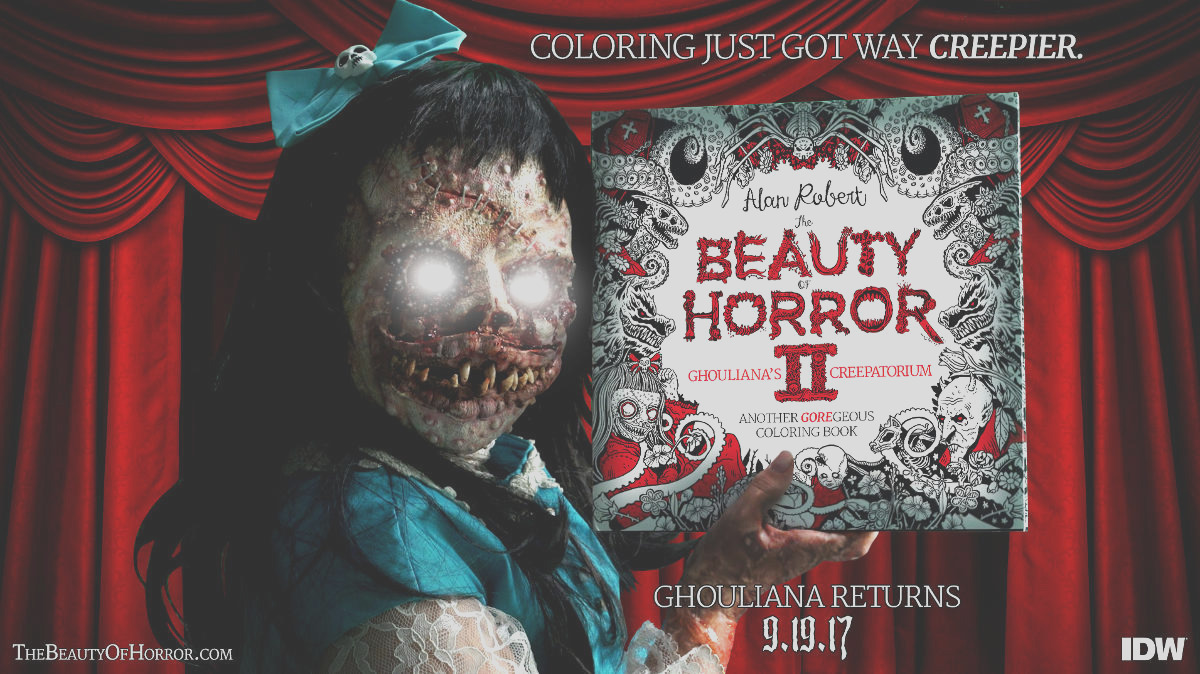the beauty of horror ii another goregeous coloring book release details author signing dates