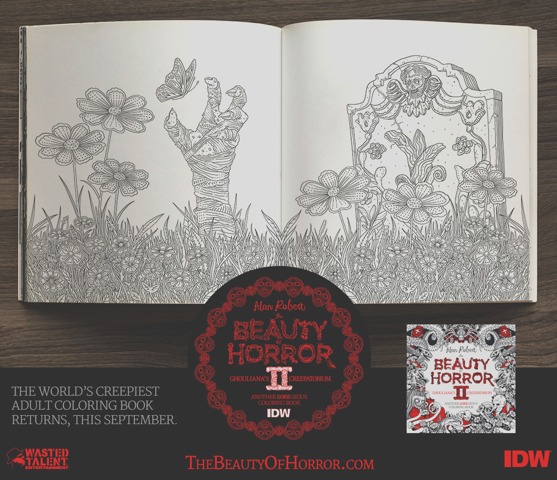 exclusive weve got first look creepy coloring book beauty horror 2