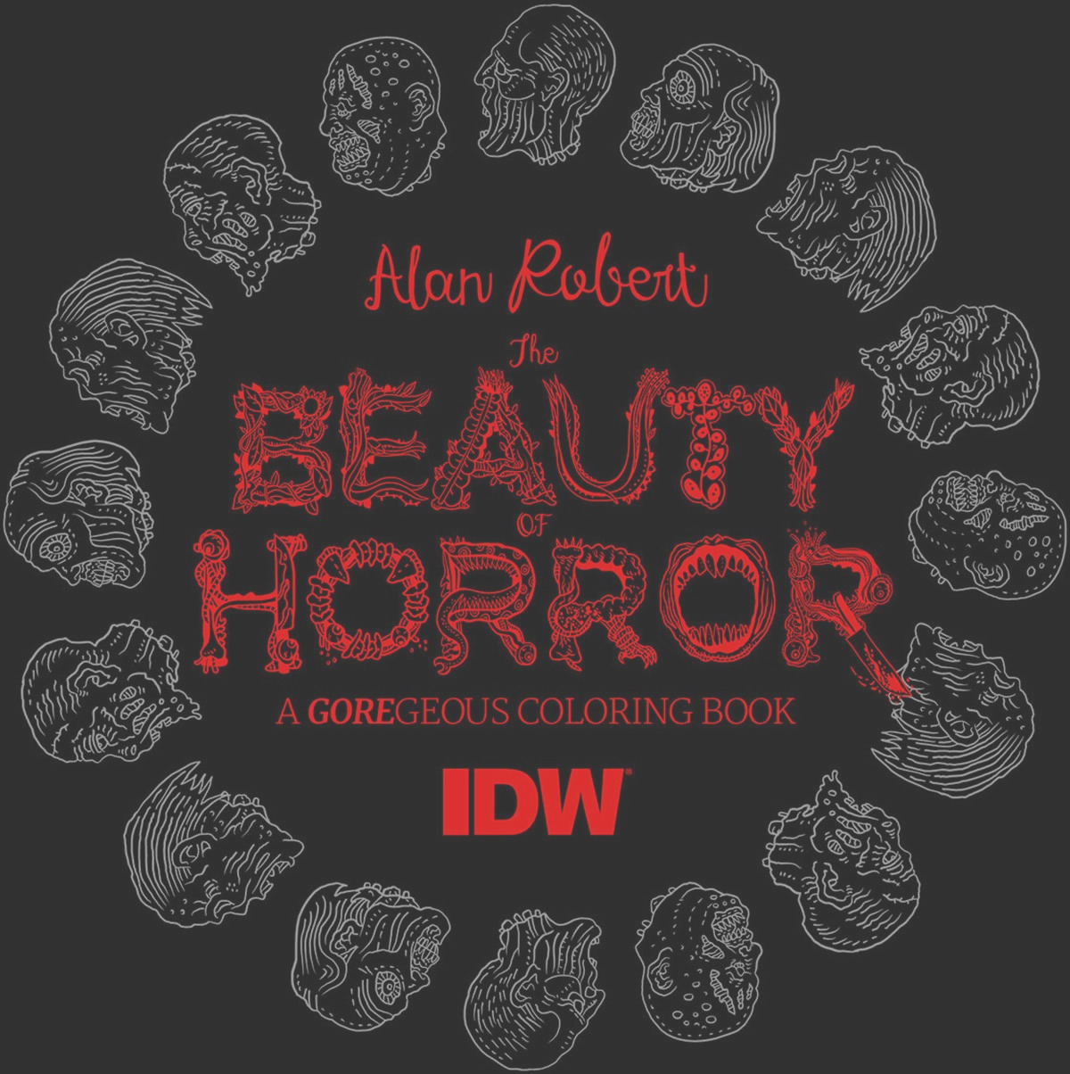 the beauty of horror a goregeous coloring book by alan robert 5