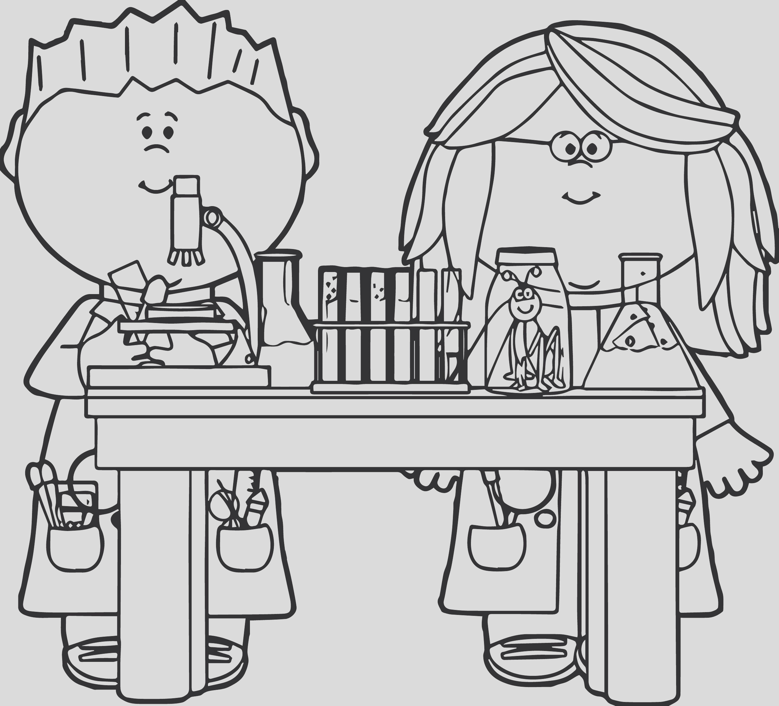 biology coloring book for kids