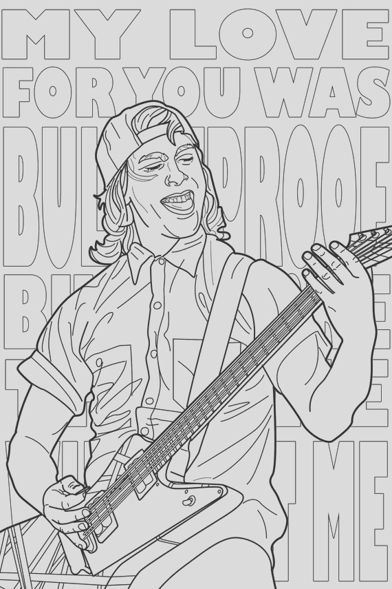 pop punk coloring book etsy fall out boy