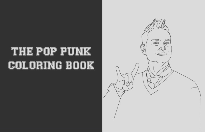 the pop punk coloring book is real and its glorious