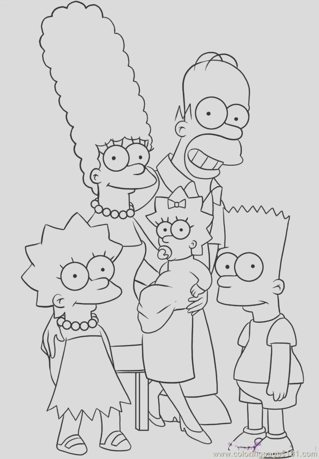 coloring pages the simpsons