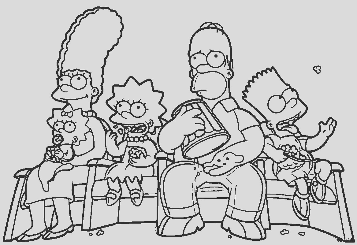 simpsons coloring pages kids 5a8e2b52b310f characters